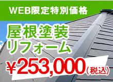 WEB限定特別価格 屋根塗装リフォーム