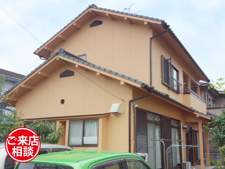 超防水塗料EC-2000DGで梅雨・夏も安心!瓦漆喰補修と一緒に外壁塗装!