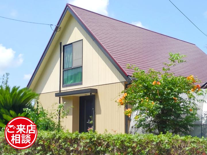 大きな屋根が特徴のお家をお客様ご希望のフッ素塗料で塗装リフォーム!