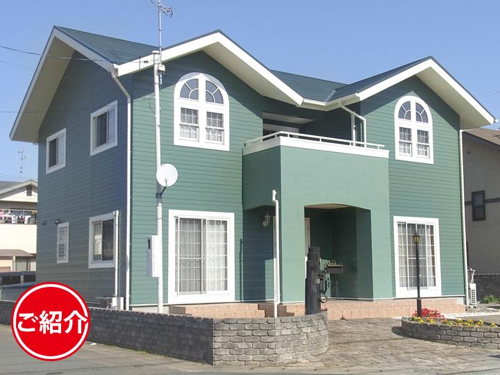 可愛い洋風のお家を新築のようなグリーンに塗り替え!屋根外壁塗装リフォーム!