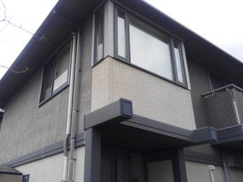 屋根外壁塗装施工前、外壁の色褪せ【ベストホーム|岡山】