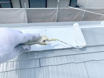 屋根外壁塗装、施工中 板金錆止め【ベストホーム|岡山】