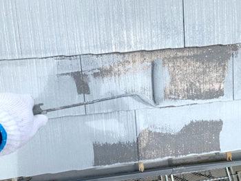 屋根外壁塗装、施工中 屋根下塗り【ベストホーム|岡山】