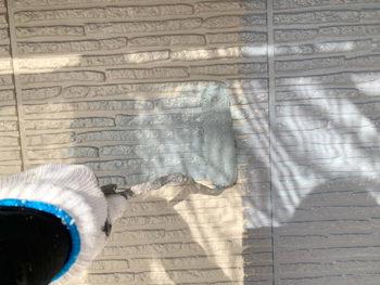 屋根外壁塗装、施工中 外壁中塗り【ベストホーム|岡山】
