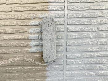 屋根外壁塗装、施工中 外壁上塗り【ベストホーム|岡山】