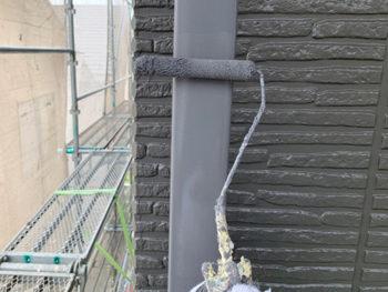 屋根外壁塗装、施工中 付帯部塗装【ベストホーム|岡山】